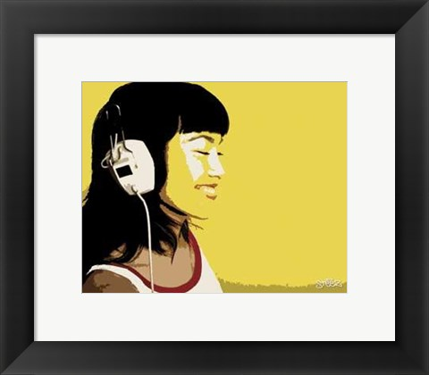 Framed Dj Girl Print