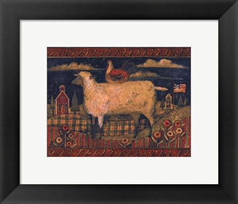 Framed Farmhouse Sheep Print