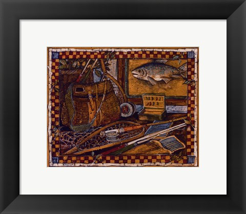 Framed Eli's Fishing Gear Print