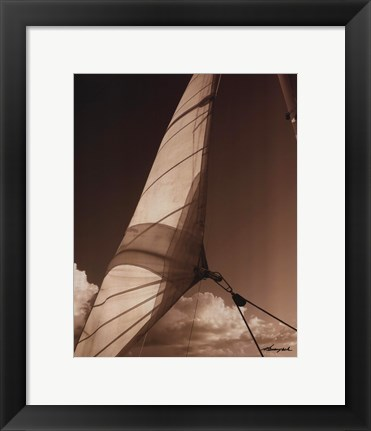 Framed Windward Sail II Print