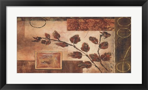 Framed Autumn Oak II Print