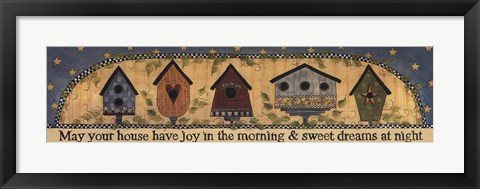 Framed House Blessings Print
