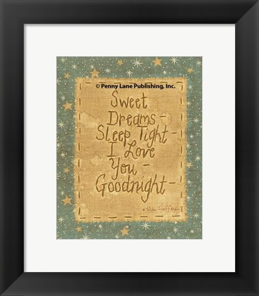 Framed Goodnight Wishes Print