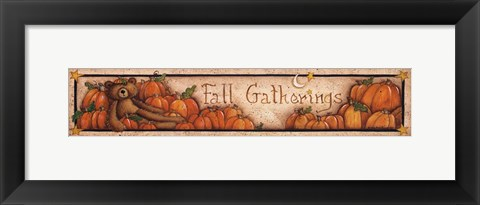 Framed Fall Gatherings Print