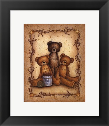 Framed Bear Wisdom Print