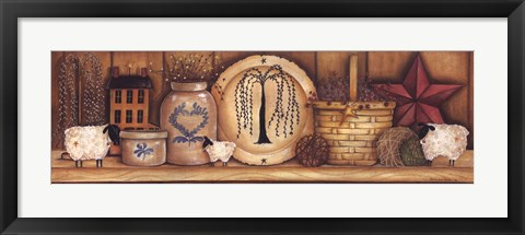 Framed Shelf Gathering Print