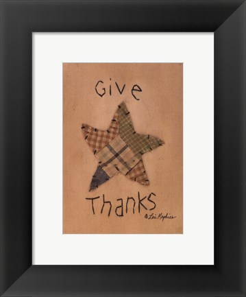 Framed Give Thanks Print
