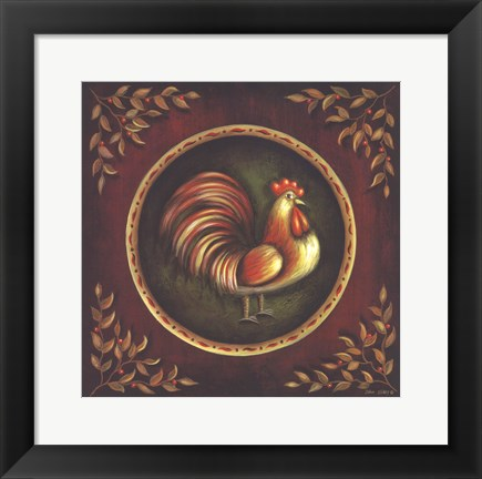 Framed Proud Rooster Print
