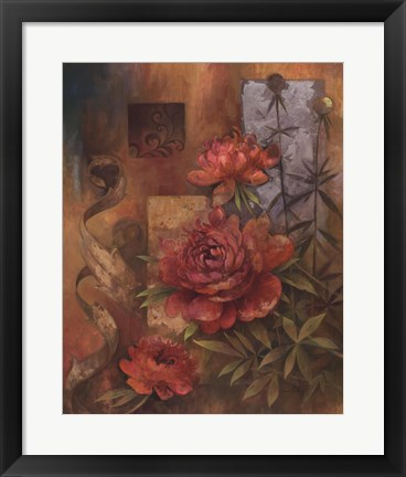 Framed Peony Montage Print