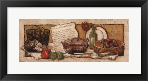 Framed Passion For Cooking I Print