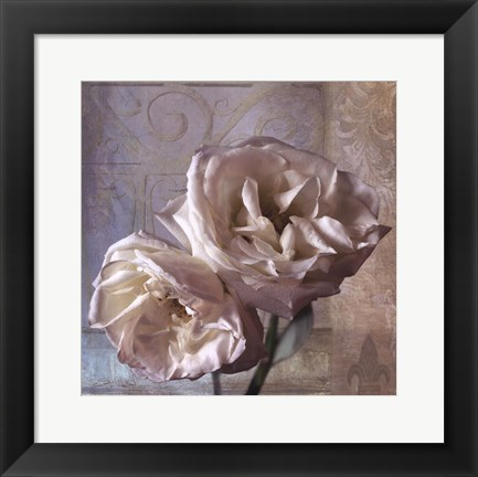 Framed Modern Rose I Print