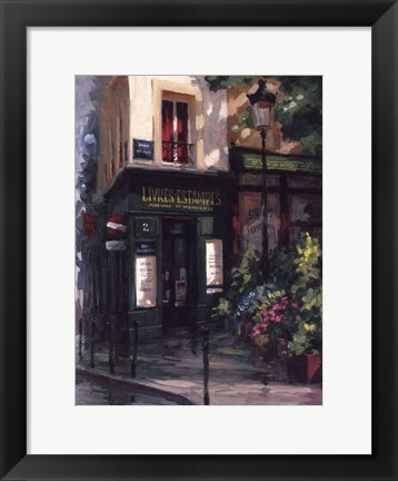 Framed Left Bank Book Shop Print