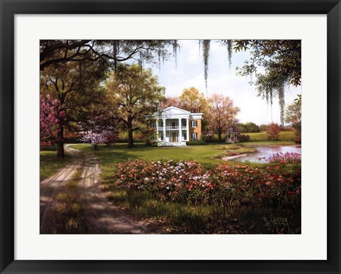 Framed Wild Rose Manor Print