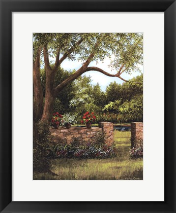 Framed Stone Wall Print