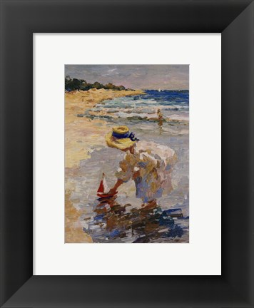 Framed Seaside Summer II Print