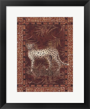 Framed Lone Cheetah Print