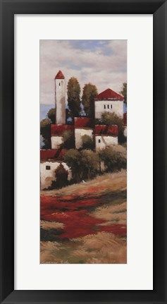 Framed Red Roofs II - Detail Print