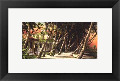 Framed Island House Print