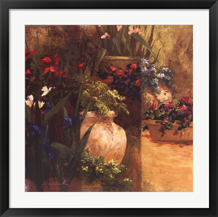 Framed Flower Pots Right Print