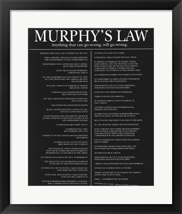 Framed Murphy's Law Print