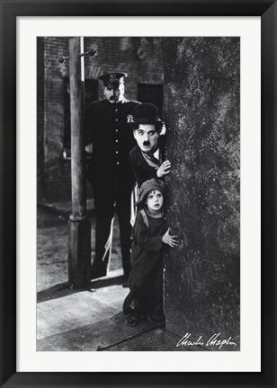 Framed Charlie Chaplin - The Kid Print