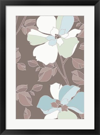 Framed Accents Of Spring I Print