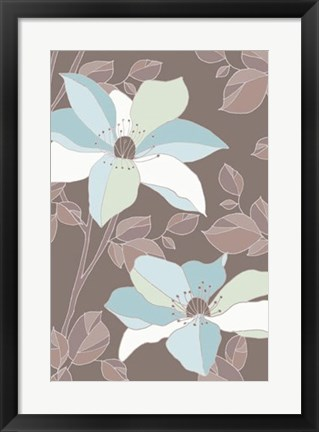 Framed Accents Of Spring II Print