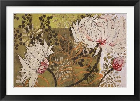 Framed Green Linen Print