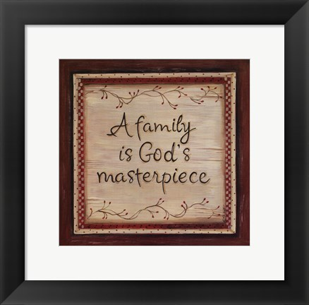 Framed Family is God's Masterpiece Print