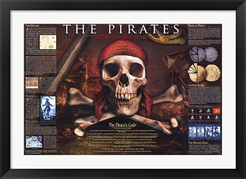 Framed Pirates Print
