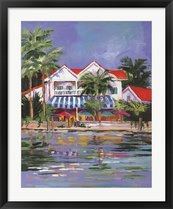 Framed Beach Resort I Print