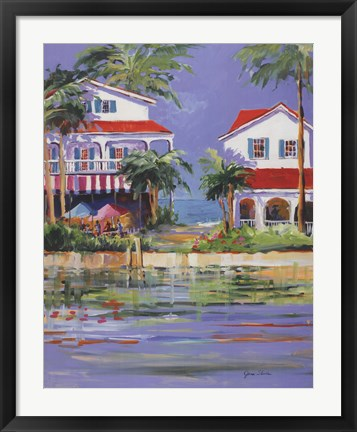 Framed Beach Resort II Print