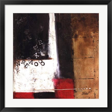 Framed Red Contemporary IV Print