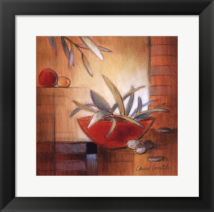 Framed Afternoon Bamboo Leaves IV Print