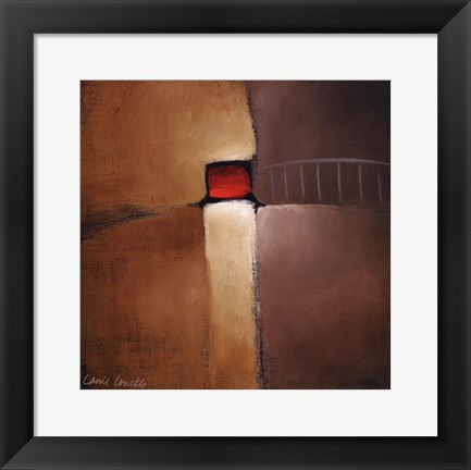 Framed Chocolate Square IV Print
