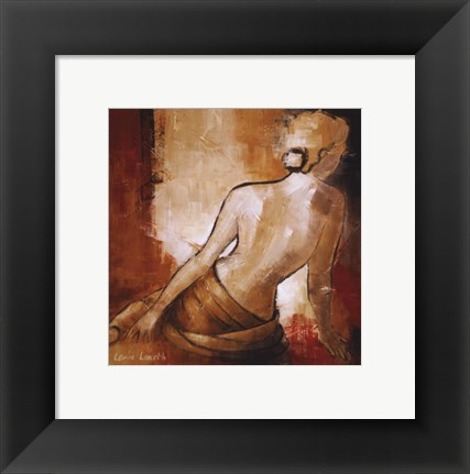 Framed Seated Woman I Print