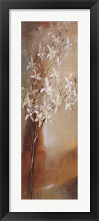 Framed Misty Orchids I Print