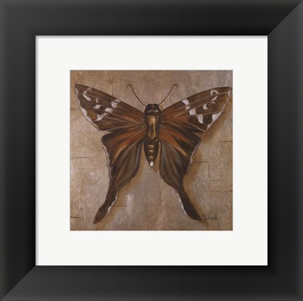 Framed Brown Butterfly Print