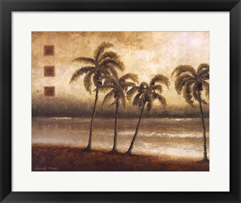 Framed Tropical Escape I Print