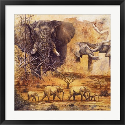 Framed Safari II Print