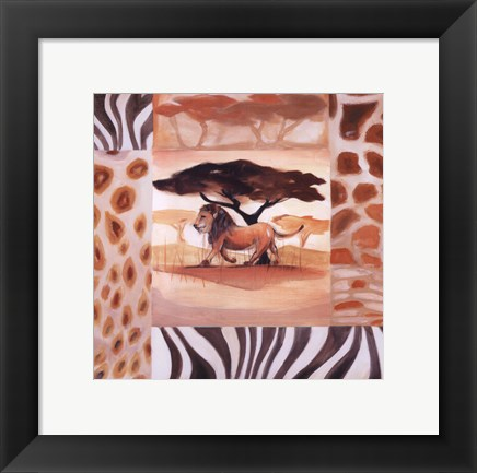 Framed Animals of the Veld - Lion Print