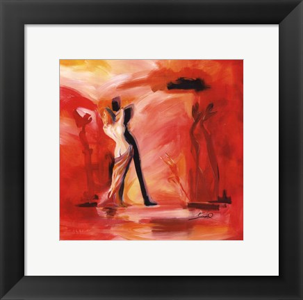 Framed Romance in Red II Print