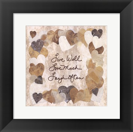 Framed Live Well, Love Much, Laugh Often Print