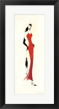 Framed Lady in Red I Print