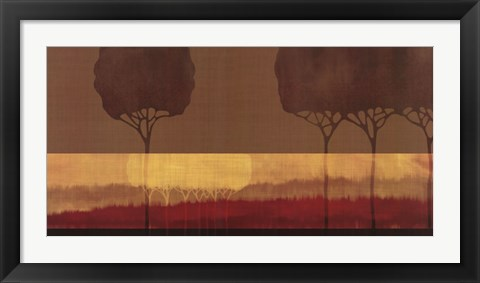 Framed Autumn Silhouettes II Print
