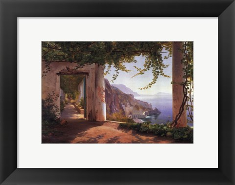 Framed View to the Amalfi Coast Print