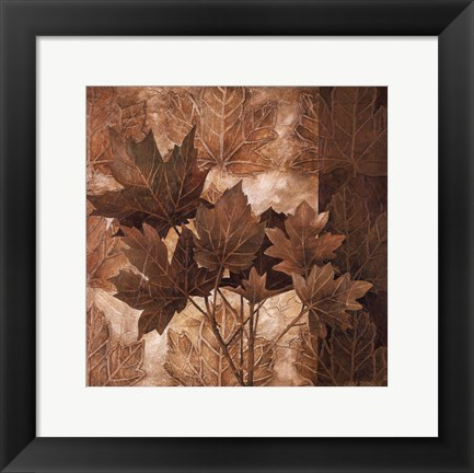 Framed Leaf Patterns II Print