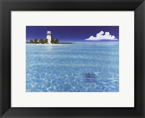 Framed Boca Chita Lighthouse Print