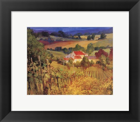 Framed Vineyard Hill Print