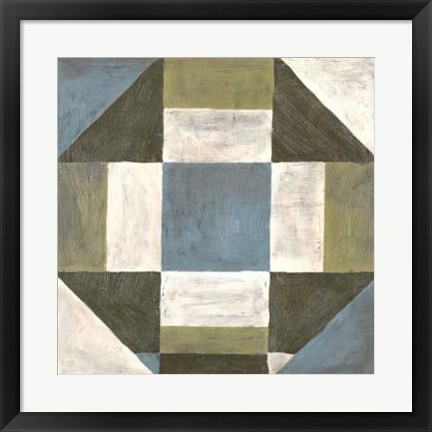 Framed Patchwork Tile II Print